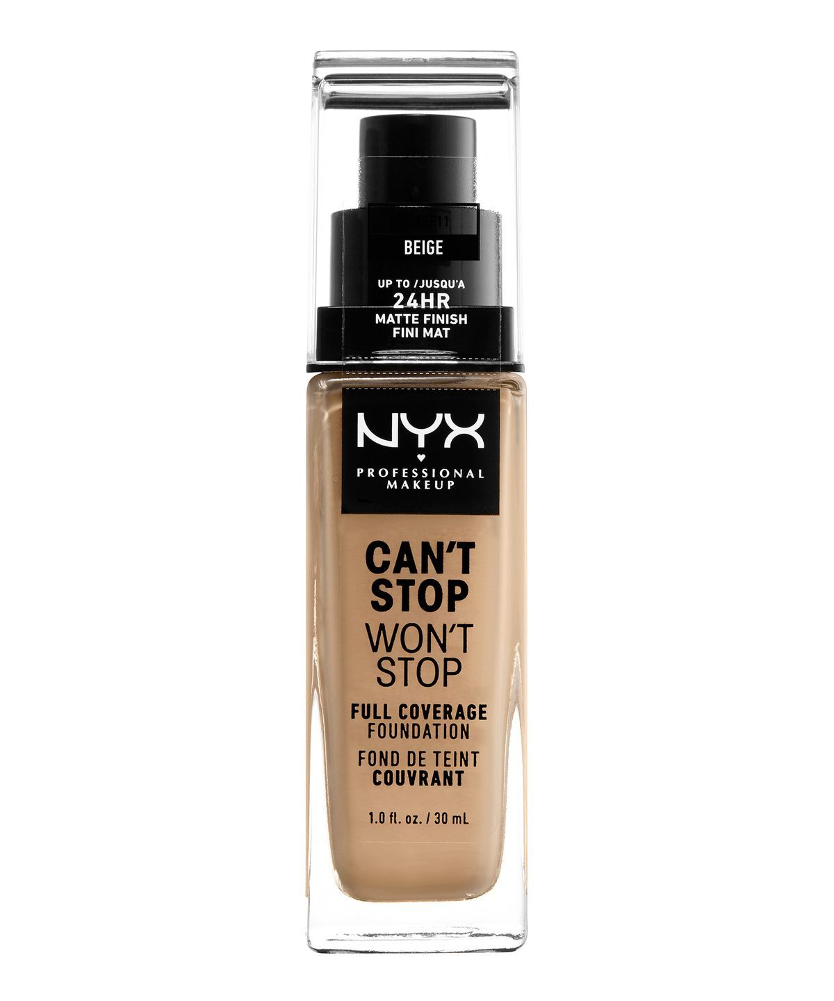 CANT STOP WONT STOP 24HR FOUNDATION BEIGE - NYX PROFESSIONAL MAKEUP