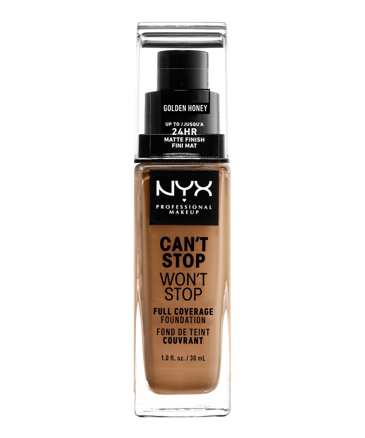 CANT STOP WONT STOP 24HR FOUNDATION GOLDEN HONEY - NYX PROFESSIONAL MAKEUP