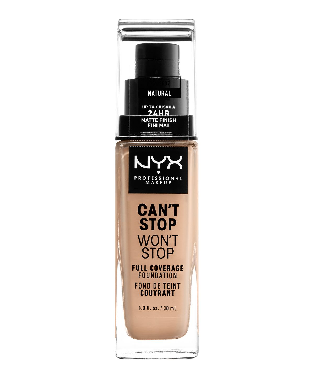 CANT STOP WONT STOP 24HR FOUNDATION NATURAL - NYX PROFESSIONAL MAKEUP