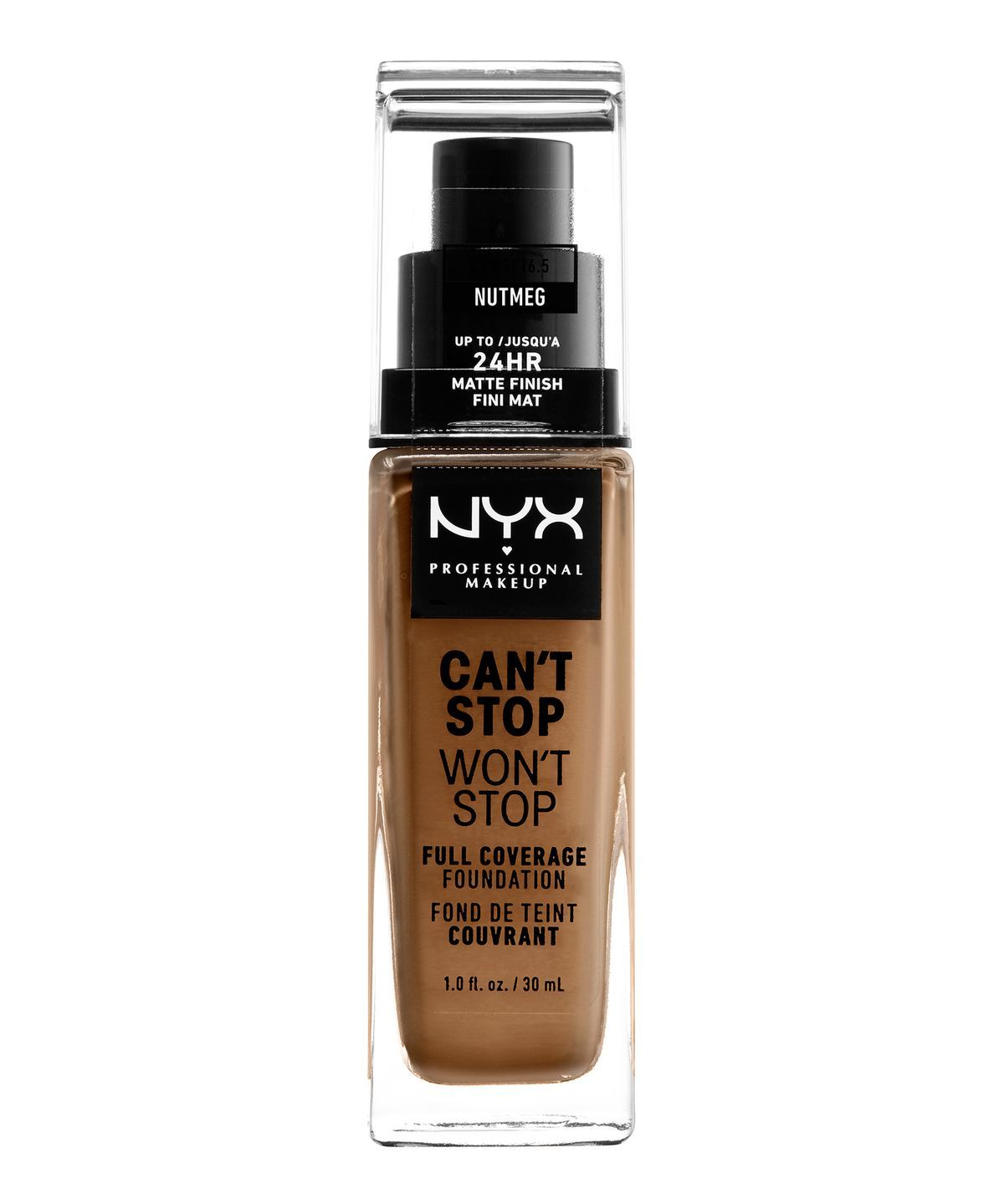 CANT STOP WONT STOP 24HR FOUNDATION NUTMEG - NYX PROFESSIONAL MAKEUP