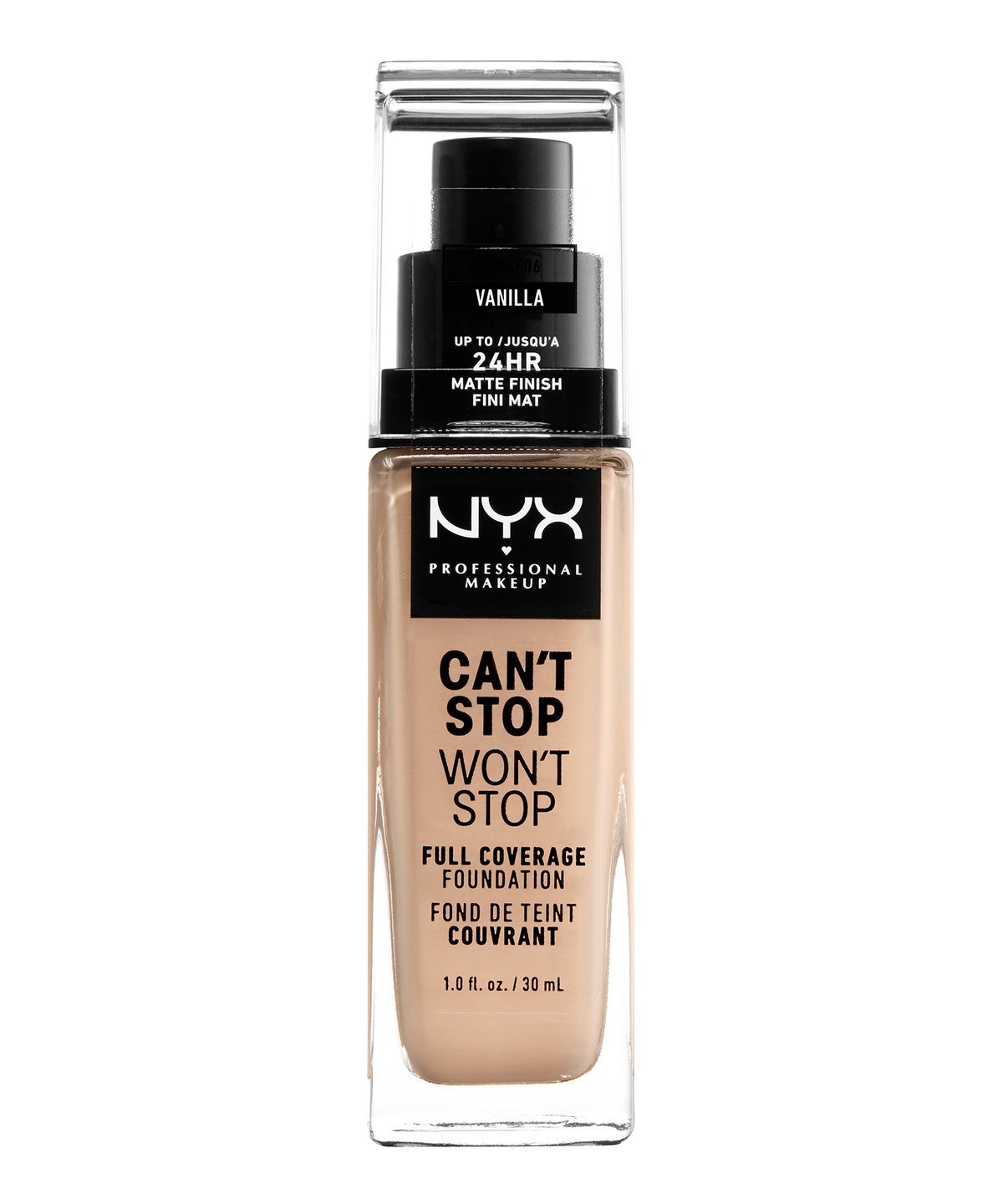 CANT STOP WONT STOP 24HR FOUNDATION VANILLA - NYX PROFESSIONAL MAKEUP