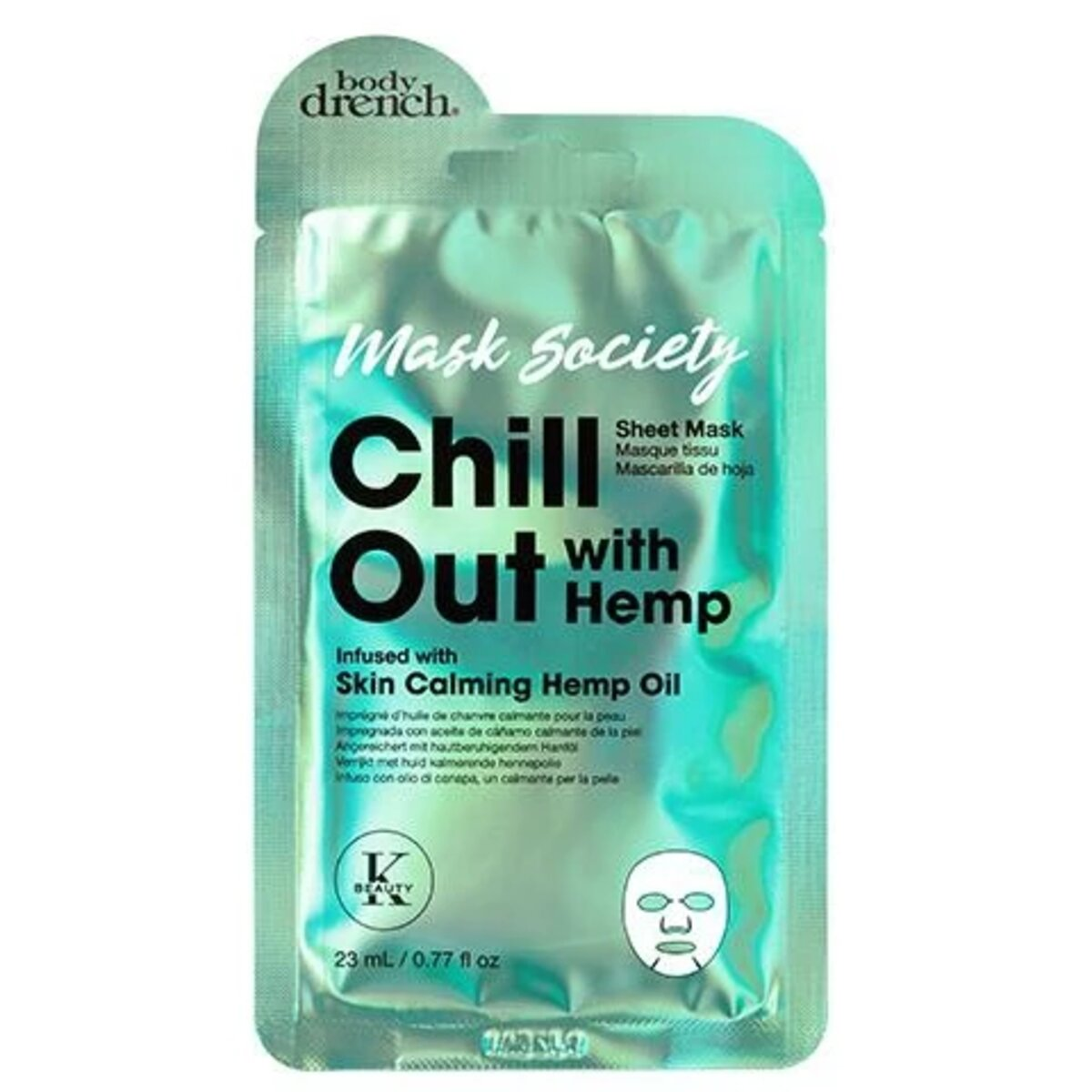 MASK SOCIETY CHILL OUT MASCARILLA FACIAL - BODY DRENCH