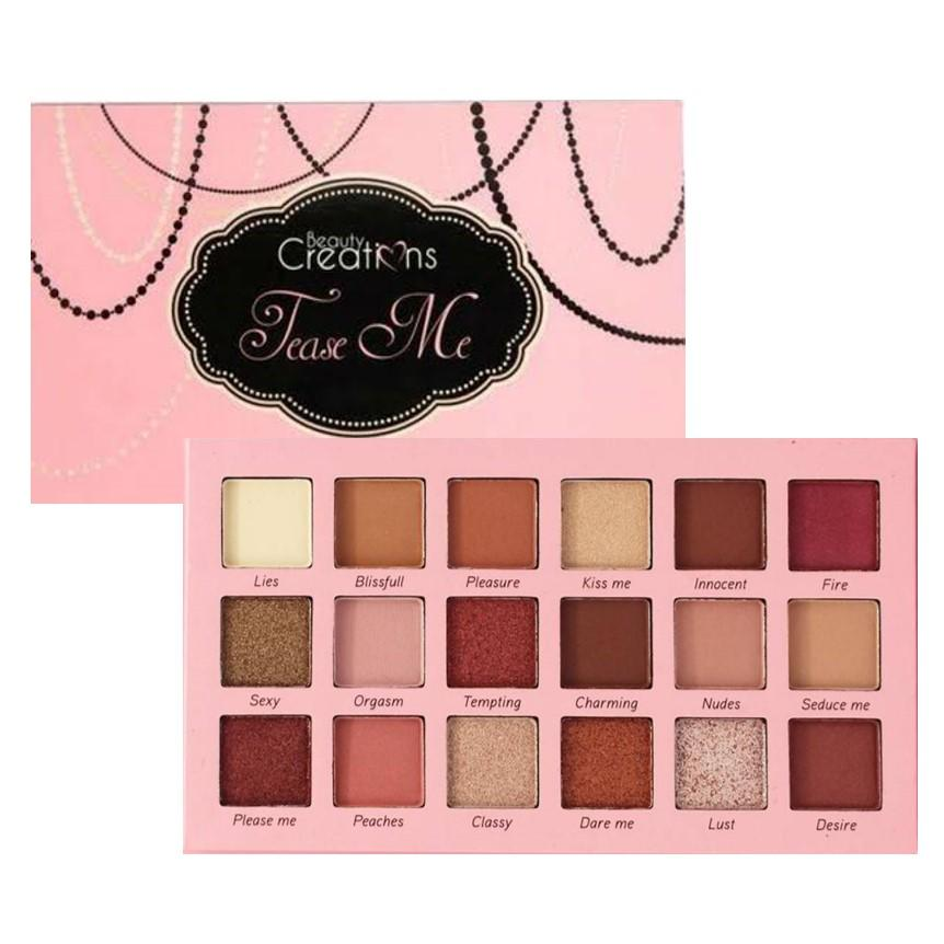 TEASE ME 18 COLOR EYESHADOW PALETTE - BEAUTY CREATIONS