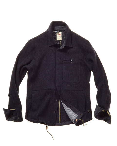 Wool Snap Shirtjacket