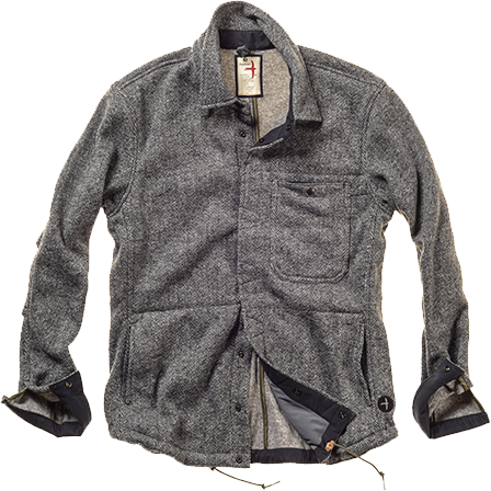 Herringbone Snap Shirtjacket
