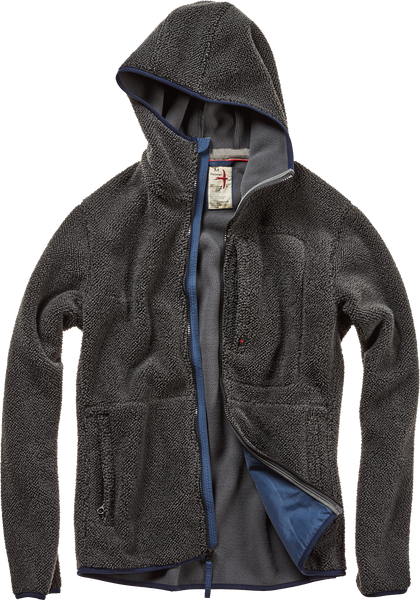 Shag Fleece Zip Hood