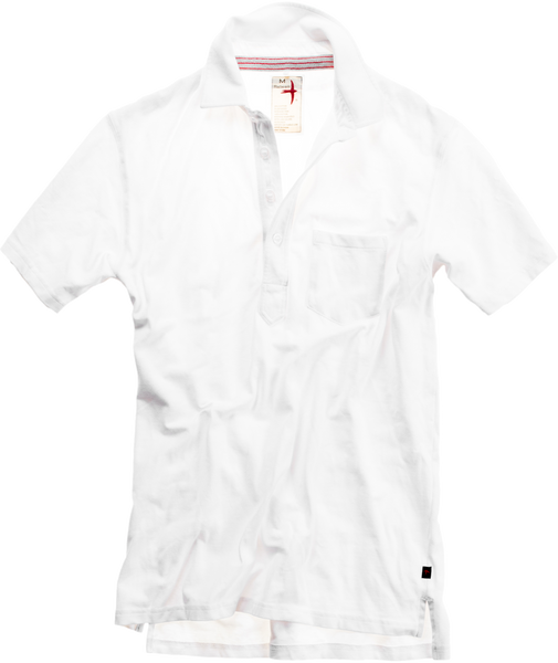 Solid Pique Slot-Button Polo