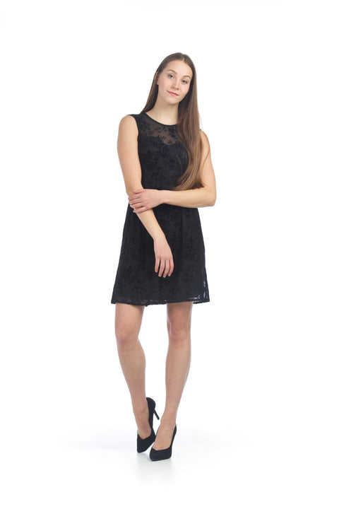 Papillon Velvet Burnout Dress - Janet's Fashions
