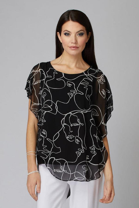 Joseph Ribkoff Layered Top - Janet's Fashions