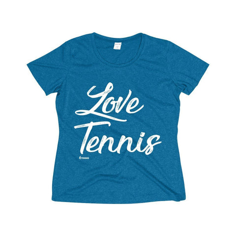 Love Tennis Dri-Fit Shirt - Blue Wake Heather / Xs - Womens Dri-Fit Shirt