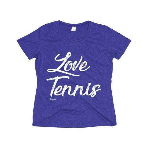 Love Tennis Dri-Fit Shirt - Cobalt Heather / S - Womens Dri-Fit Shirt
