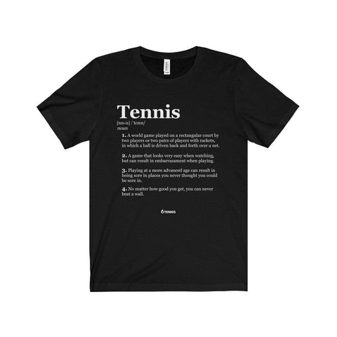 Meaning Of Tennis T-Shirt - Black / L - T-Shirt