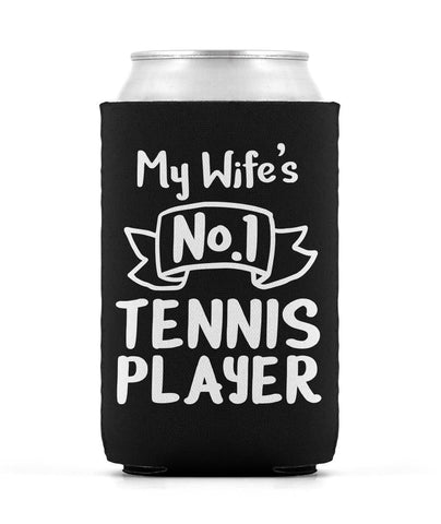 No1 Player (Wife) Can Sleeve - Black - Koozies
