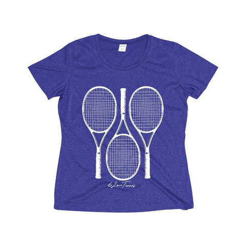 Racquets Dri-Fit Shirt - Cobalt Heather / S - Womens Dri-Fit Shirt