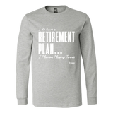 Retirement Plan Ls - Fitted Long Sleeve (Ls) Shirt / Athletic Heather / S - Long Sleeve Shirts