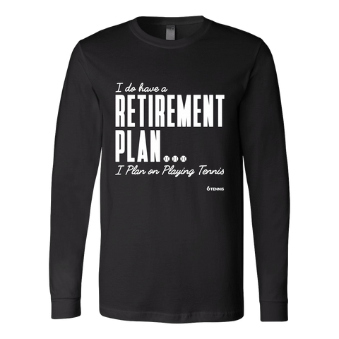Retirement Plan Ls - Fitted Long Sleeve (Ls) Shirt / Black / S - Long Sleeve Shirts