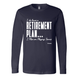 Retirement Plan Ls - Fitted Long Sleeve (Ls) Shirt / Navy / S - Long Sleeve Shirts
