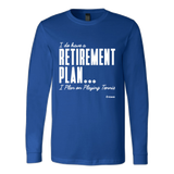 Retirement Plan Ls - Fitted Long Sleeve (Ls) Shirt / Royal / S - Long Sleeve Shirts
