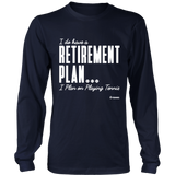Retirement Plan Ls - Relaxed Long Sleeve (Ls) Shirt / Navy / S - Long Sleeve Shirts