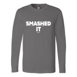 Smashed It Ls - Fitted Long Sleeve (Ls) Shirt / Asphalt / S - Long Sleeve Shirts