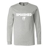 Smashed It Ls - Fitted Long Sleeve (Ls) Shirt / Athletic Heather / S - Long Sleeve Shirts