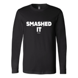 Smashed It Ls - Fitted Long Sleeve (Ls) Shirt / Black / S - Long Sleeve Shirts