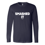 Smashed It Ls - Fitted Long Sleeve (Ls) Shirt / Navy / S - Long Sleeve Shirts