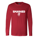 Smashed It Ls - Fitted Long Sleeve (Ls) Shirt / Red / S - Long Sleeve Shirts