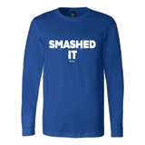 Smashed It Ls - Fitted Long Sleeve (Ls) Shirt / Royal / S - Long Sleeve Shirts