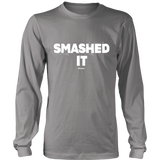 Smashed It Ls - Relaxed Long Sleeve (Ls) Shirt / Grey / S - Long Sleeve Shirts