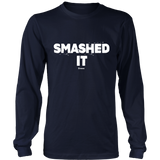 Smashed It Ls - Relaxed Long Sleeve (Ls) Shirt / Navy / S - Long Sleeve Shirts