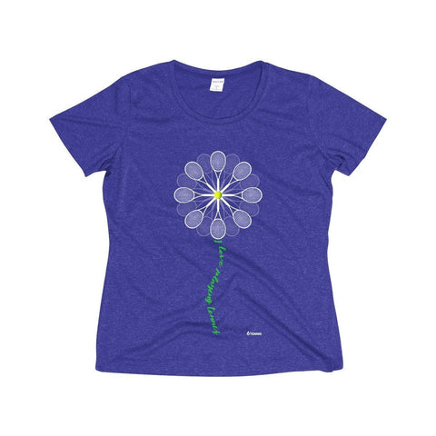 Tennis Daisy Dri-Fit Shirt - Cobalt Heather / S - Womens Dri-Fit Shirt