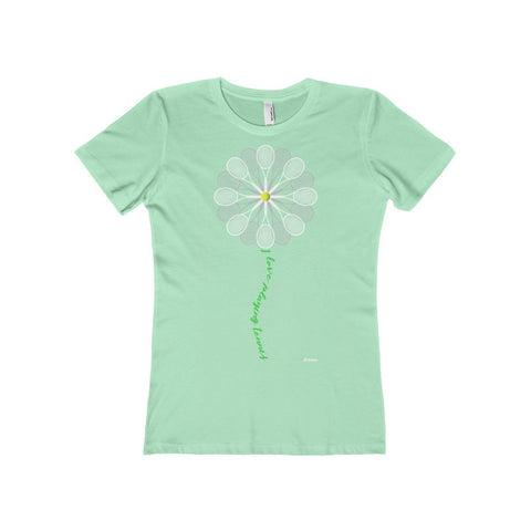 Tennis Daisy Ladies Tee - Solid Mint / S - T-Shirt