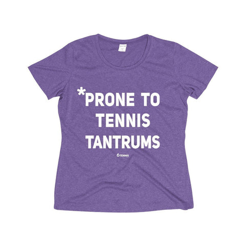 Tennis Tantrums Dri-Fit Shirt - Purple Heather / Xs - Womens Dri-Fit Shirt