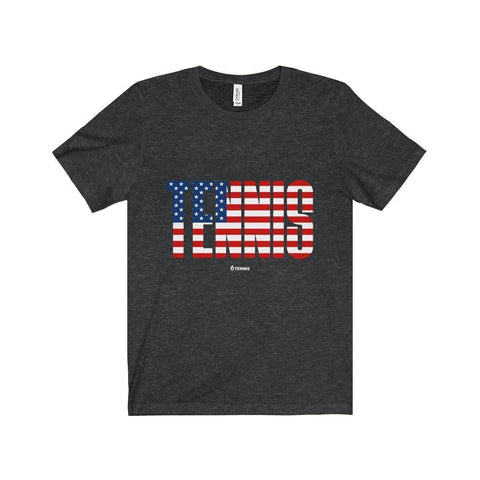 Tennis Usa T-Shirt - Dark Grey Heather / Xs - T-Shirt