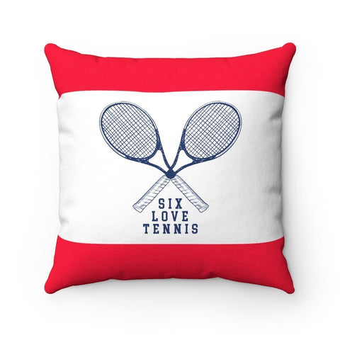 Vintage Tennis Pillow Case - 14X14 - Pillow Case