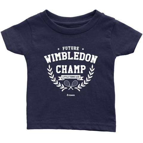 Wimbledon Champ Baby Shirt - Infant T-Shirt / Navy Blue / 6M - T-Shirt