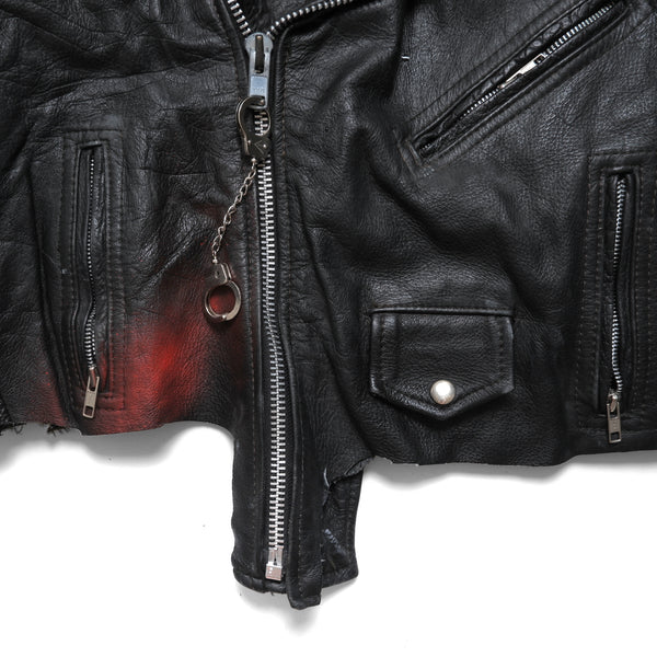 HUNGOVER NO CURFEW LEATHER JACKET