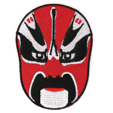 Red Wrestling Mask patch image