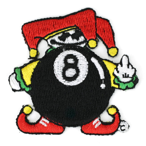 8 Ball jester patch image