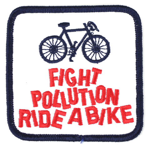 Fight Polution Ride A Bike - Patch Club