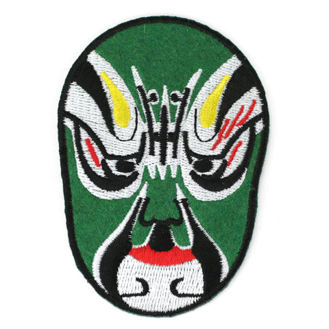 Green wrestling Mask - Patch Club
