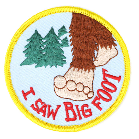 I Saw Big Foot patch image