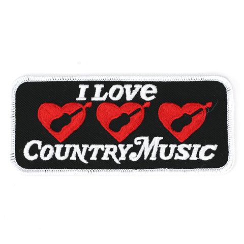 I Love Country Music patch image
