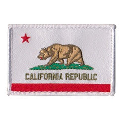 cal flag white border patch image