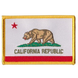California Flag Yellow Border patch image