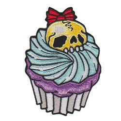 cupcake yellow skull - Patch Club