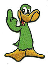finger green duck patch image