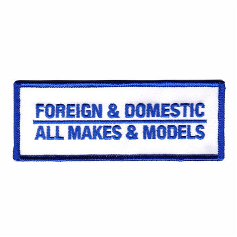 foreign and domestic patch image