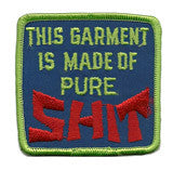 garment is shit  - sew on only - Patch Club